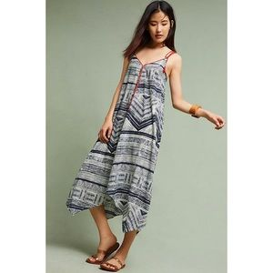 Anthropologie Flowing Tribal Print Dress